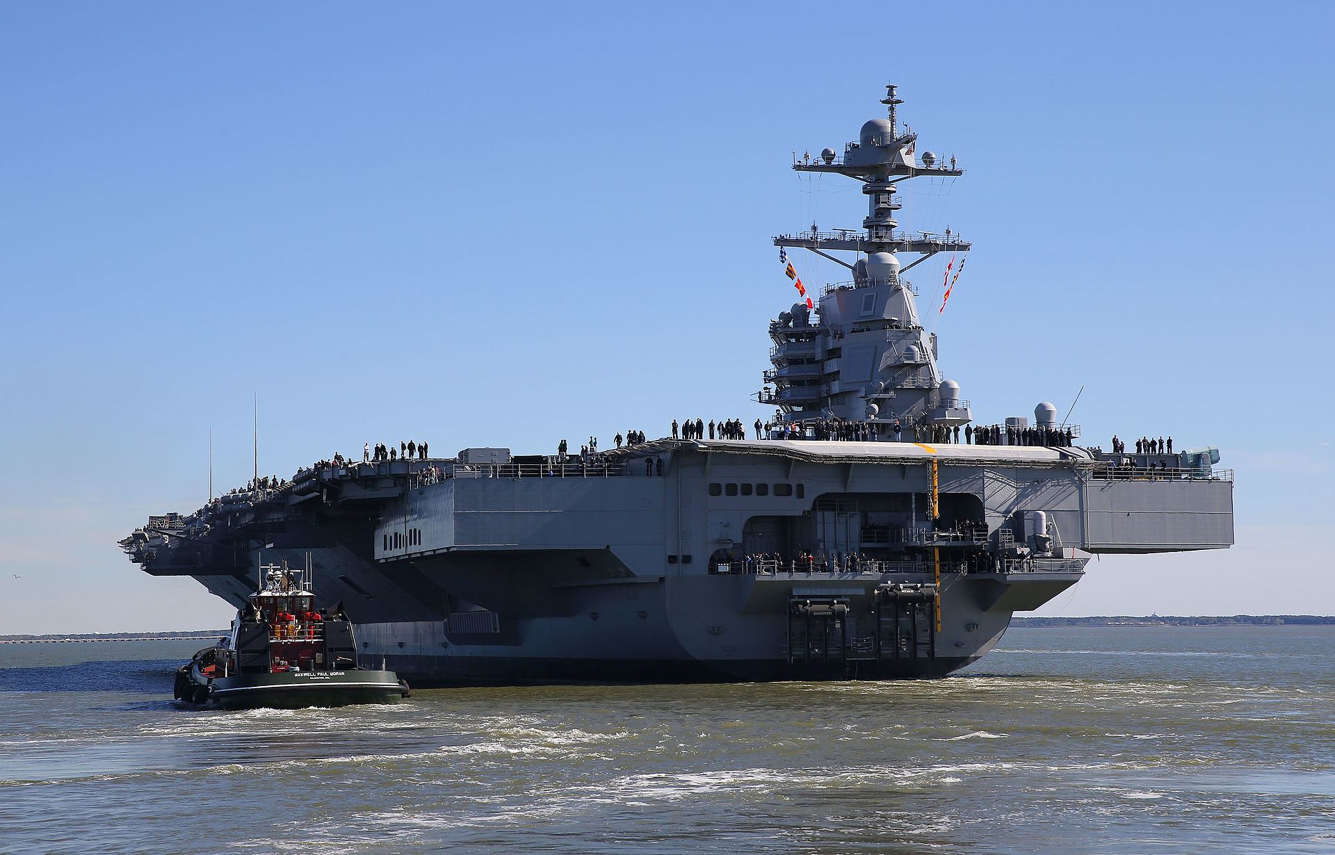 U.S. Navy Has Taken Delivery of the Super Aircraft Carrier ...