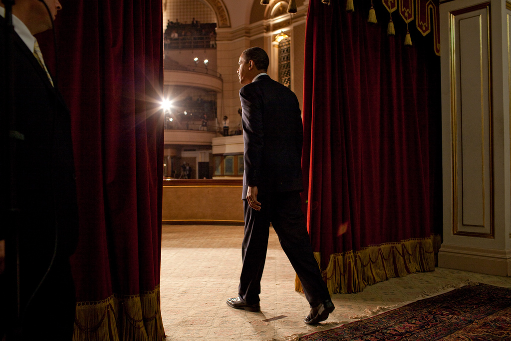 President Barack Obama speaks at Cairo University. Flickr/Obama White House