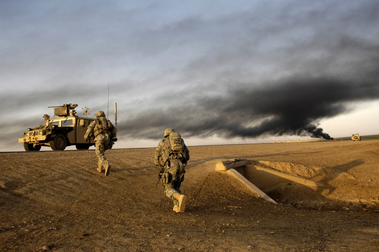 U.S. Army soldiers in Al Muradia village, Iraq. Flickr/U.S. Army