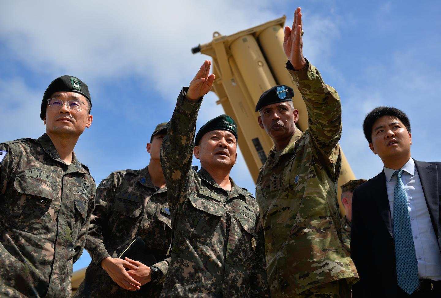 South Korea's Gen. Sun Jin Lee visits Guam's THAAD site. DVIDSHUB/Public domain