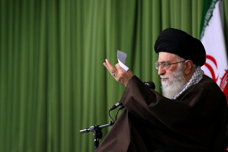 Ali Khamenei on March 15, 2016. Wikimedia Commons/Khamenei.ir.