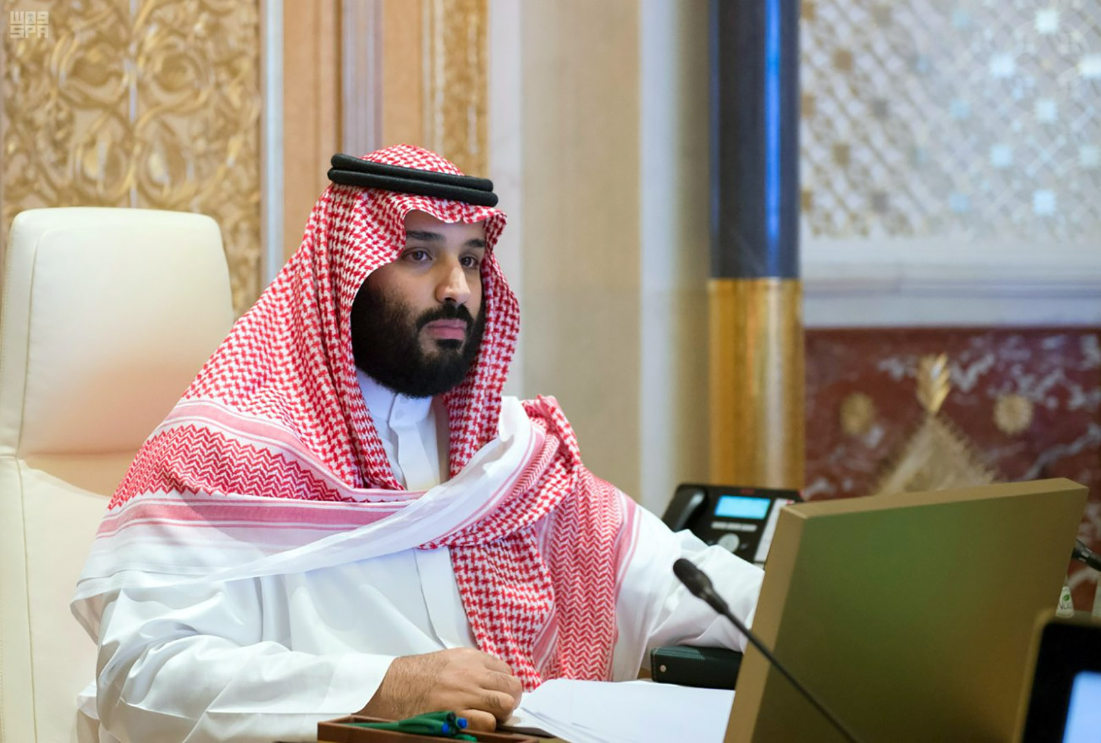 Saudi Crown Prince Mohammed bin Salman presides over a meeting of the Council of Economic and Development Affairs in Riyadh