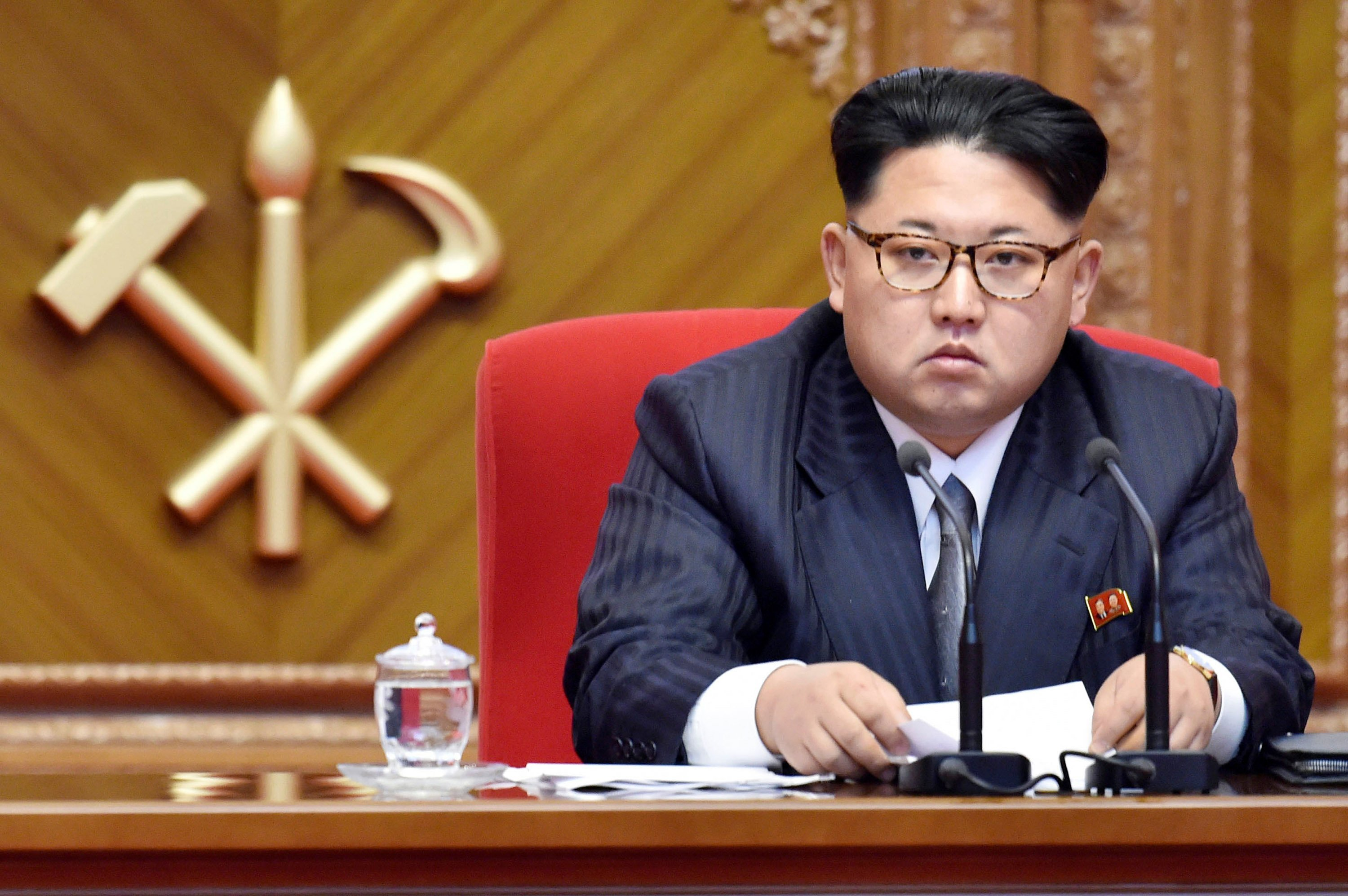 North Korean leader Kim Jong Un attends the first congress of the country's ruling Workers' Party in 36 years, in Pyongyang, North Korea