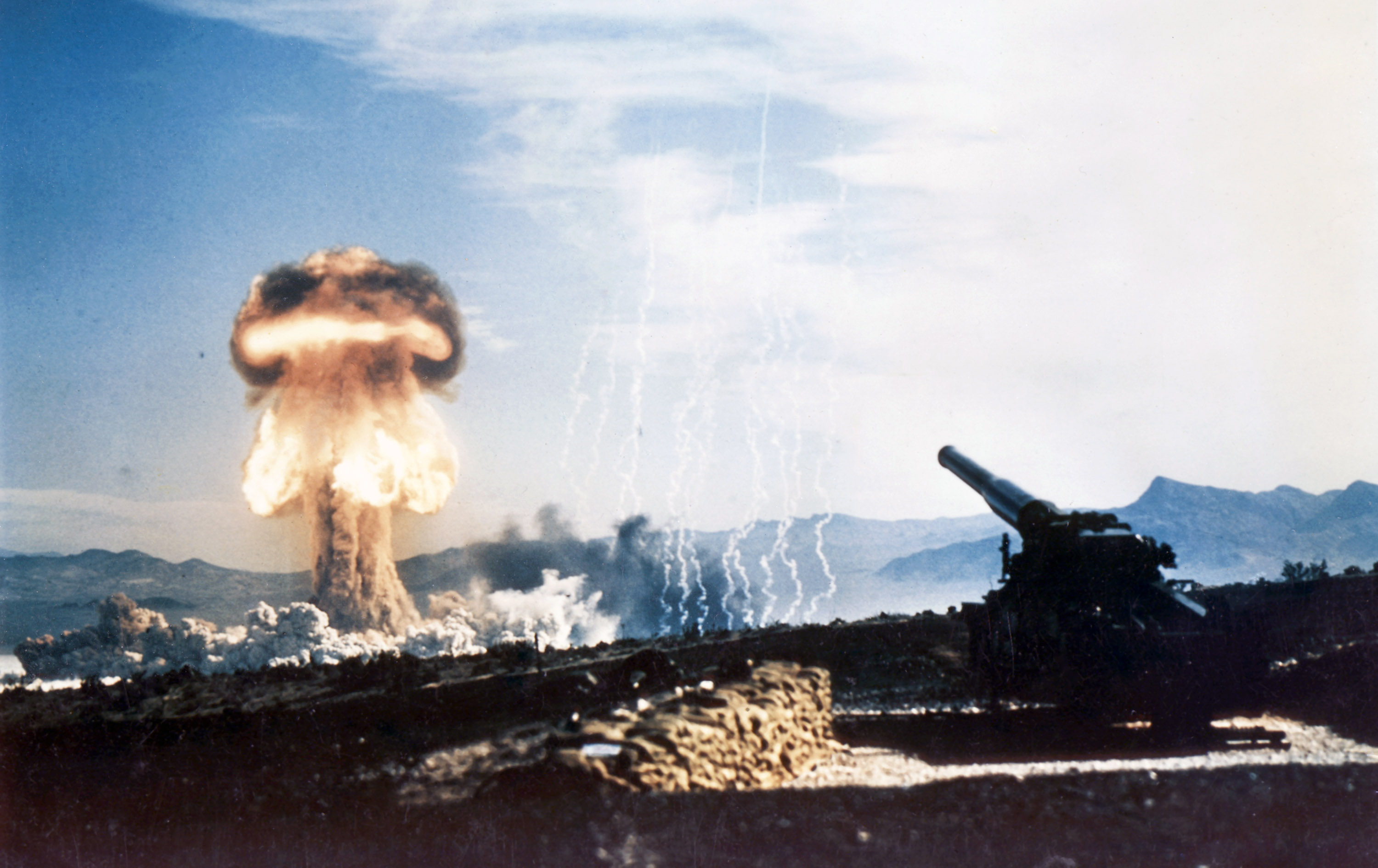 Part of Operation Upshot-Knothole, was a 15-kiloton test fired from a 280-mm cannon on May 25, 1953 at the Nevada Proving Grounds.