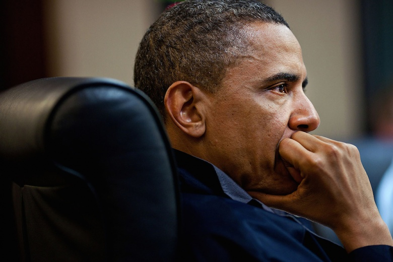 President Barack Obama in the Situation Room of the White House. Flickr/White House