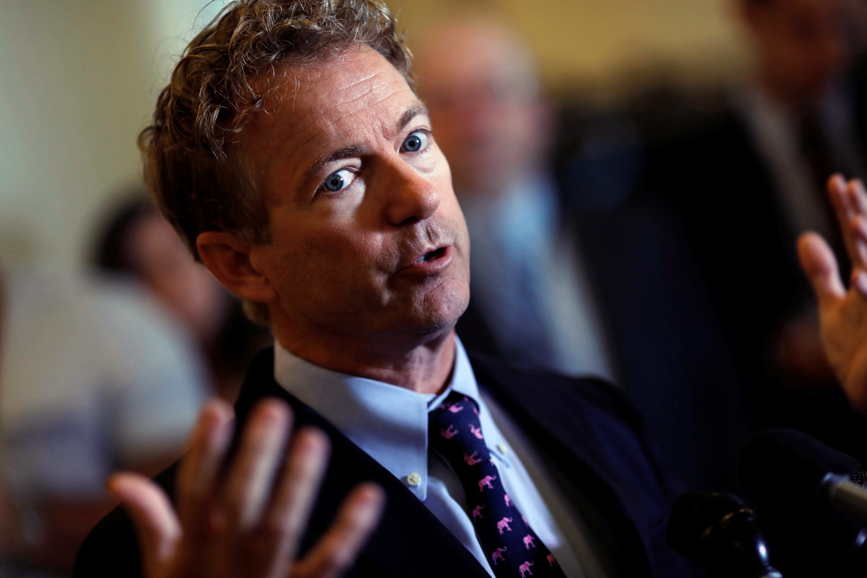Sen. Rand Paul (R-KY) speaks at a press conference about the latest Republican Effort to repeal and replace the Affordable Care Act on Capitol Hill