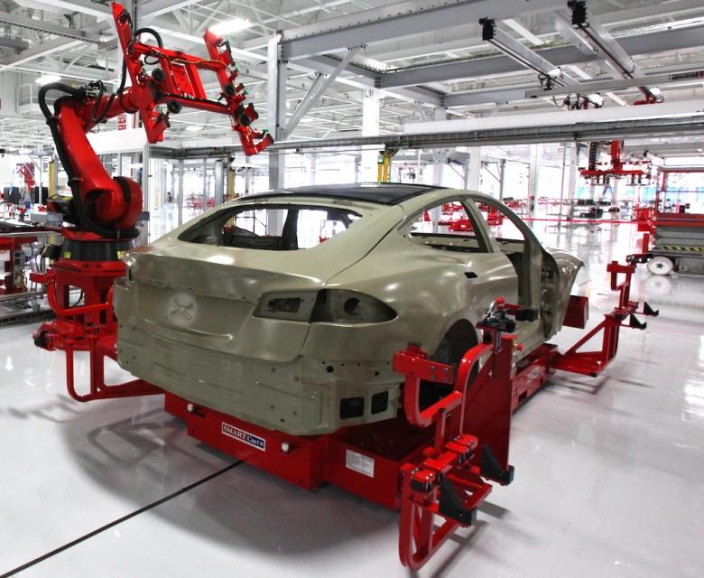 Inside the Tesla Motors factory. Flickr/Steve Jurvetson
