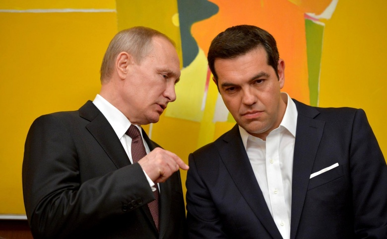 Vladimir Putin and Alexis Tsipras. Kremlin.ru