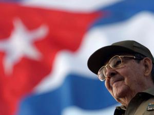 Raúl Castro attends the May Day parade at Havana's Revolution Square, May 1, 2008. Sven Creutzmann/Pool via Reuters