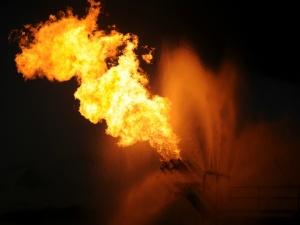 Image: Gas flaring. US Military photo, public domain.