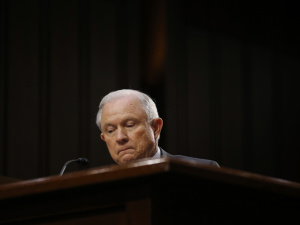 U.S. Attorney General Jeff Sessions testifies before a Senate Intelligence Committee hearing on Capitol Hill in Washington, U.S., June 13, 2017. REUTERS/Jonathan Ernst.