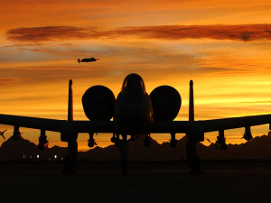 A-10 aircraft at sunset. Pixabay/Public domain