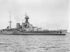 Image: The HMS Hood in 1924. Photographer: Allan C. Green 1878 - 1954; Restoration: Adam Cuerden. Public domain.