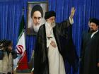 Iran's Supreme Leader Ayatollah Ali Khamenei waves during a ceremony marking the death anniversary of the founder of the Islamic Republic Ayatollah Ruhollah Khomeini, in Tehran, Iran, June 4, 2017. 