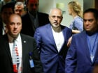 Iran's Foreign Minister Mohammad Zarif exits after attending a meeting of the parties to the Iran nuclear deal during the 72nd United Nations General Assembly at U.N. headquarters in New York