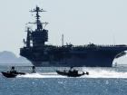 The nuclear powered aircraft carrier USS John C. Stennis (CVN74) sails into San Diego harbor
