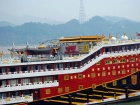 The Yangtze River and boats staging for entry into the locks at Three Gorges Dam. Flickr/Creative Commons/Harvey Barrison