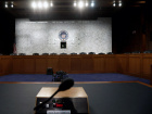 The witness table where former FBI Director James Comey will face the U.S. Senate Intelligence Committee and testify on June 8 about his meetings with President Trump sits at the ready in Washington