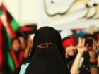 Libyan girl wearing a niqab during demonstrations in Bayda, Libya. Wikimedia Commons/Public domain