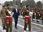 U.S. Secretary of State John Kerry participates in a wreath-laying ceremony at the General Headquarters of the Pakistan Army. Flickr/Department of State