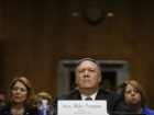 CIA Director Mike Pompeo testifies before a Senate Foreign Relations Committee confirmation hearing on Pompeo's nomination to be secretary of state on Capitol Hill in Washington