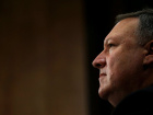 CIA Director Mike Pompeo testifies before a Senate Foreign Relations Committee confirmation hearing on Pompeo's nomination to be secretary of state on Capitol Hill in Washington, U.S., April 12, 2018. REUTERS/Leah Millis