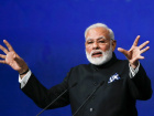 Indian Prime Minister Narendra Modi delivers a speech during a session of the St. Petersburg International Economic Forum (SPIEF), Russia, June 2, 2017. REUTERS/Grigory Dukor
