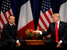 U.S. President Donald Trump meets French President Emmanuel Macron in New York, U.S., September 18, 2017. REUTERS/Kevin Lamarque