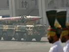 Pakistan's nuclear-capable missile, Shaheen 1, is driven past with its mobile launcher during the National Day military parade in Islamabad March 23, 2008. President Pervez Musharraf assured full support to the incoming government on Sunday, a day after the party of slain former prime minister Benazir Bhutto nominated the country's next prime minister. REUTERS/Mian Khursheed