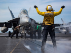 Sailors conduct flight operations aboard the U.S. Navy Nimitz-class aircraft carrier USS Carl Vinson in the western Pacific Ocean May 2, 2017. Picture taken May 2, 2017. U.S. Navy/Mass Communication Specialist 2nd Class Sean M. Castellano/Handout via REUTERS