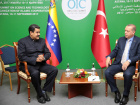 Venezuela's President Nicolas Maduro (L) meets with Turkish President Tayyip Erdogan, during the Organization of Islamic Cooperation (OIC) summit, in Astana, Kazakhstan September 10, 2017. Miraflores Palace/Handout via REUTERS