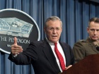 Donald Rumsfeld during a Pentagon press conference on Dec. 16, 2003​. Wikimedia Commons/Defense.gov