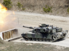 A U.S. M1 Abrams tank fires during a live fire gunnery exercise with the South Korean army at the U.S. army's Rodriguez range in Pocheon
