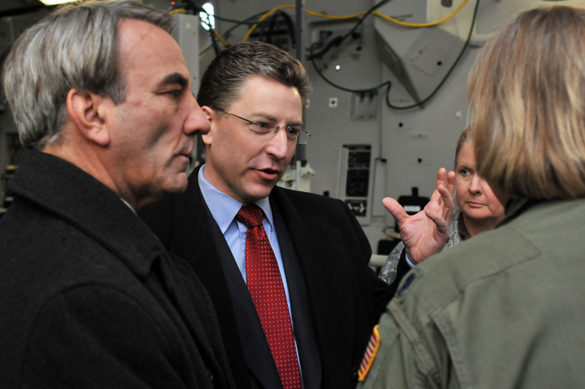 Ambassador Kurt Volker during a 2009 visit to Ramstein Air Base, Germany. U.S. Air Force photo/Senior Airman Nathan Lipscomb