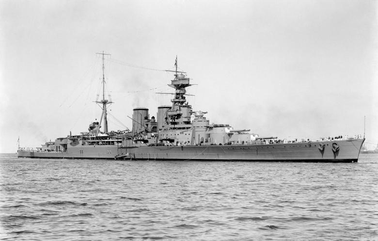 Image: The HMS Hood in 1924. Photographer: Allan C. Green 1878 - 1954; Restoration: Adam Cuerden. Public domain.
