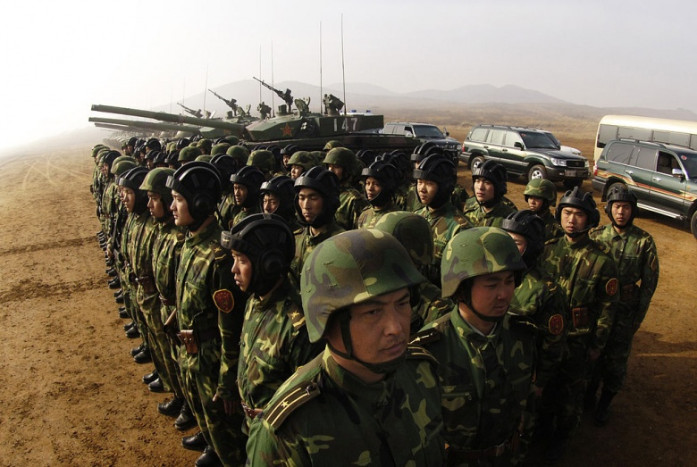 Image: PLA soldiers in the Shenyang Province. Wikimedia Commons.