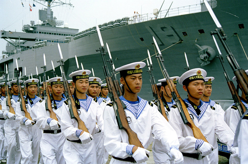 People's Liberation Army Navy sailors. Wikimedia Commons/U.S. Navy