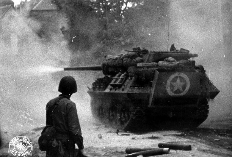 Image result for This is actual WWII footage of a tank duel