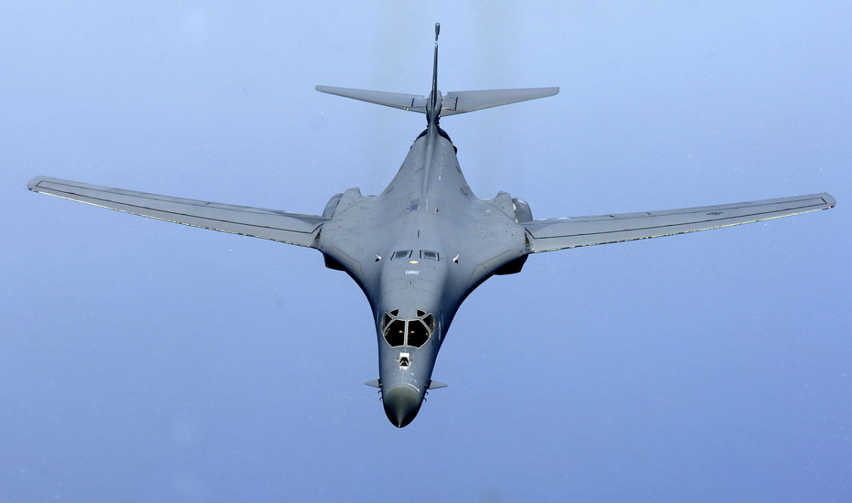A B-1 Lancer prepares to connect with a KC-135 Stratotanker refueling boom over the Indian Ocean on July 7. The B-1 was flying a close-air-support mission in support of Operation Enduring Freedom. Wikimedia Commons