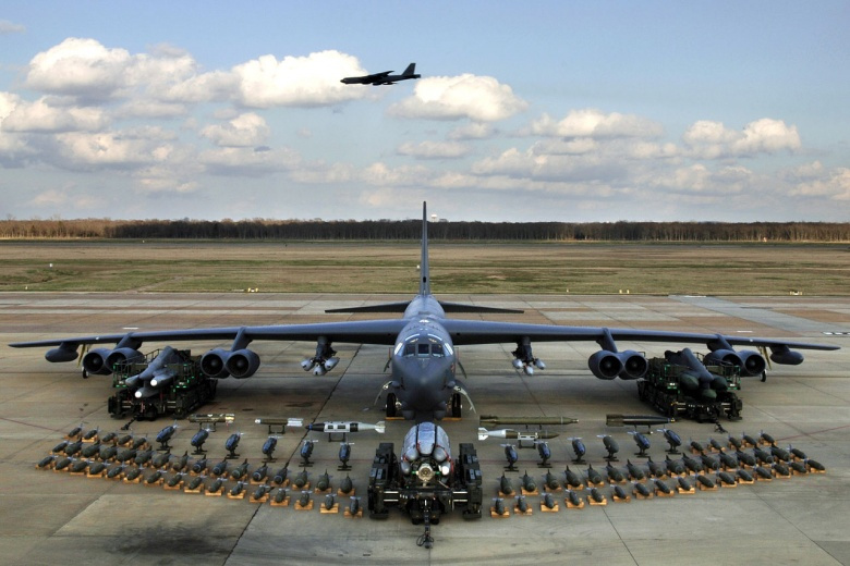 Image: A B-52H on display. US Air Force photo, public domain.