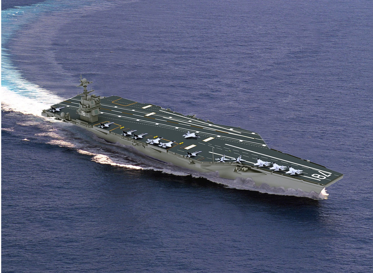 USS Gerald R. Ford 'supercarrier' is 99 percent complete, Navy reports