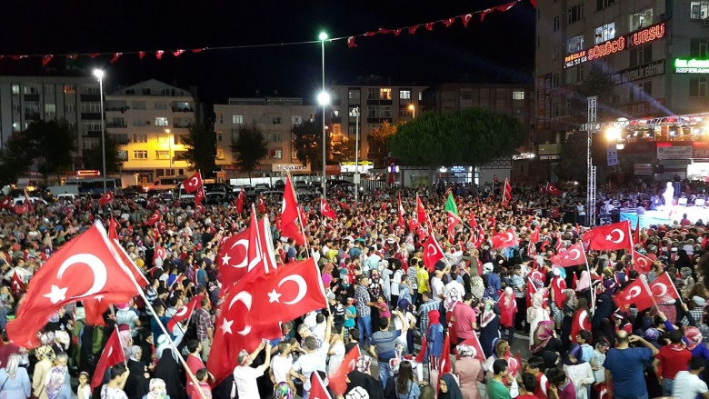 Image: Protests against the coup attempt in Turkey. Photo by Maurice Flesier, CC BY-SA 4.0.