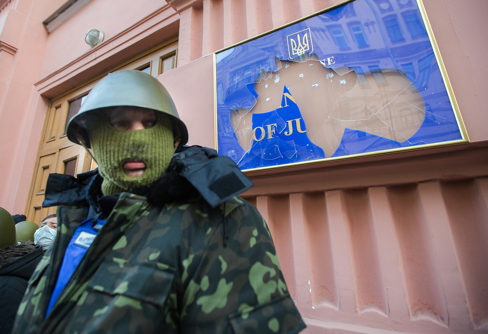 Kiev. Ukraine on January 27, 2014. Conquest of the Ministry of Justice. Flickr / Sasha Maksymenko