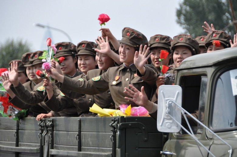 Image: North Korean soldiers at a military parade. Flickr/Uri Tours, CC BY-SA 2.0.