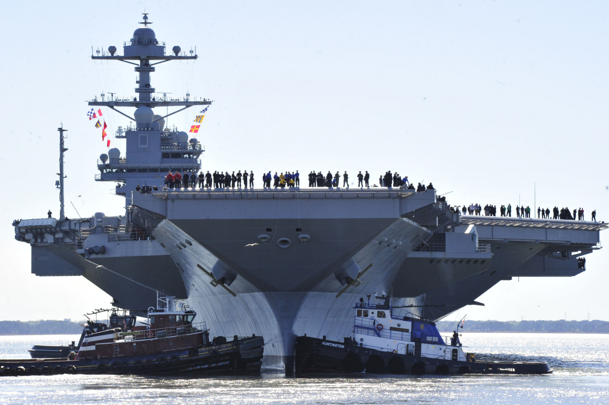 America S Next Super Aircraft Carrier Is 50 Percent