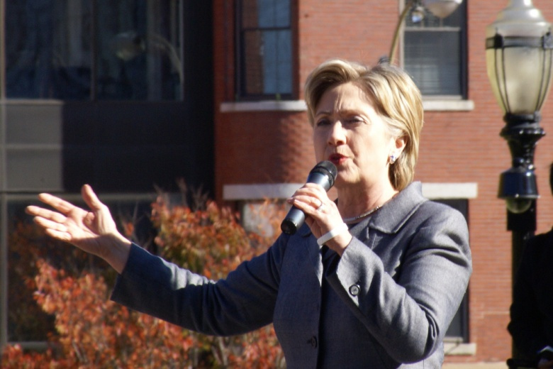 Image: Hillary Clinton in 2007. Photo by Marc Nozell, CC BY 2.0.
