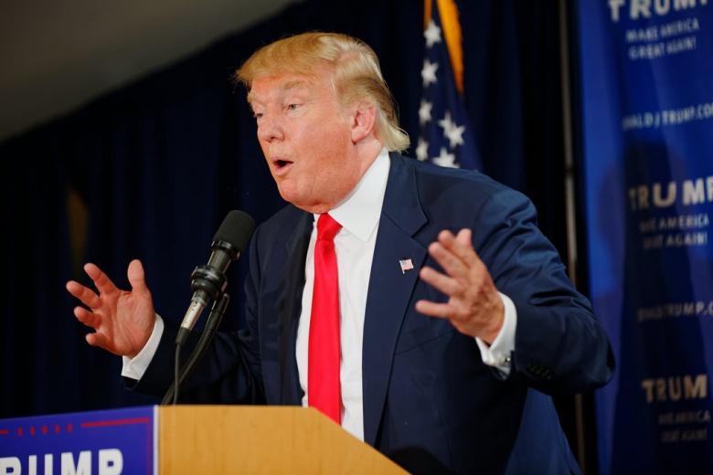 Image: Trump in New Hampshire, 2015. Flickr/Michael Vadon. CC BY-SA 2.0.