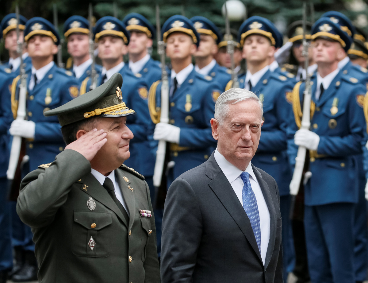 Mattis: US 'Actively' Considering Sending Weapons to Ukraine