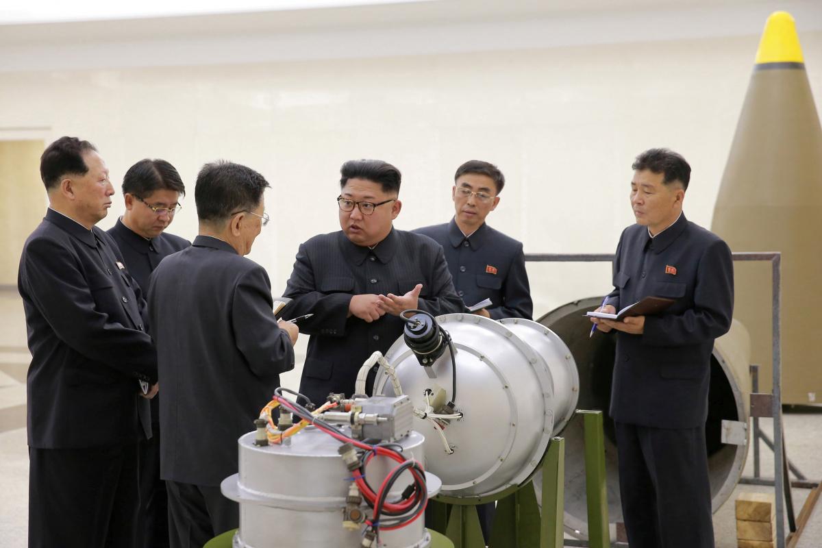 North Korean leader Kim Jong Un provides guidance on a nuclear weapons program
