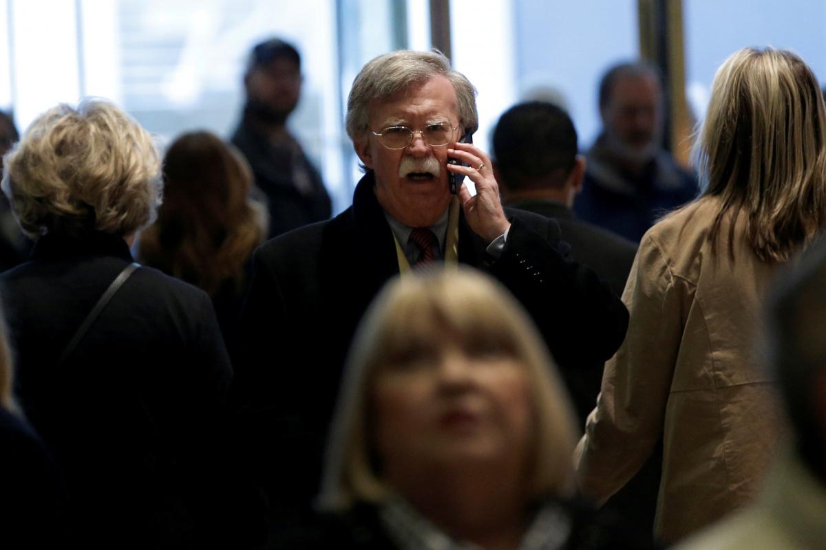 John Bolton arrives for a meeting at Trump Tower, December 2, 2016. Reuters/Mike Segar.